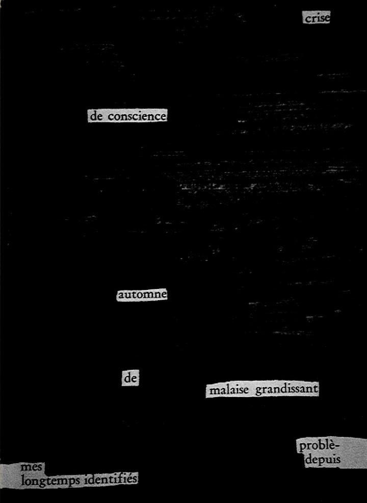 Crise de conscience/Automne de malaise grandissant/Problèmes depuis longtemps identifiés