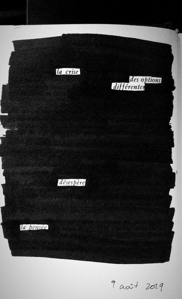 Exemple de blackout poetry