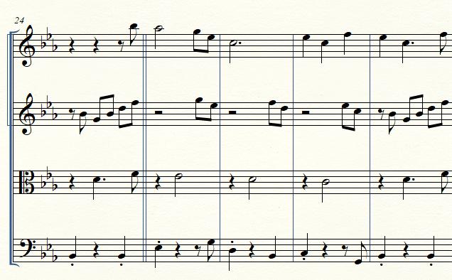 Score musical.