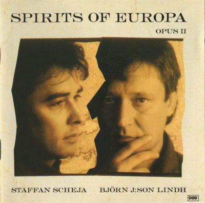 Pochette de l'album Spirits of Europa, Opus II, de Björn J:son Lindh et Staffan Scheja.