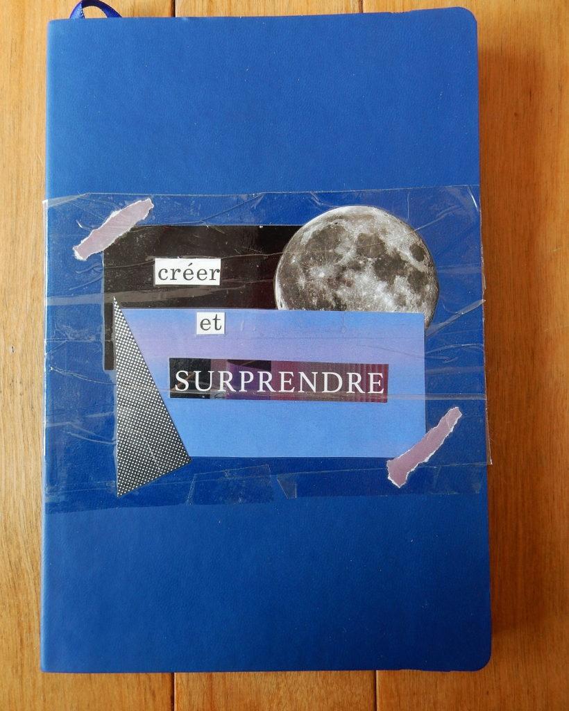 Cahier sur lequel j'ai fait des collages, couverture.