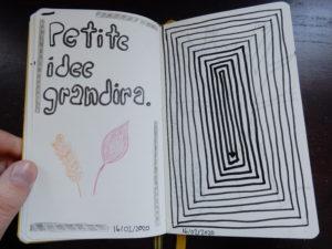 Doodles faits avec mes crayons de peinture acrylique
